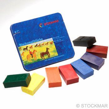 Voskové bločky STOCKMAR - 8 ks - Standard mix