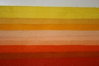 """Filc 1 mm (165 gr.) - obdélník 22 x 20 cm - sada 10 barev - """"Sluneční symfonie"""""""