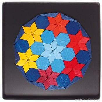 GRIMM´S Mini magnetické puzzle – dodekagon hvězdné nebe