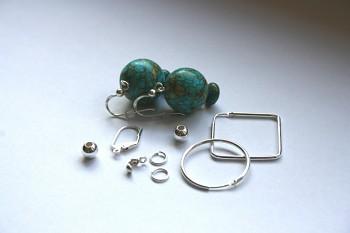 Komponenty stříbrné (Ag925) - různé druhy