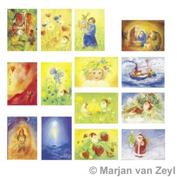 Sada pohlednic Marjan van Zeyl - Roční období