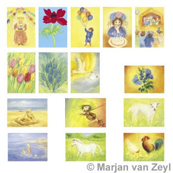 Sada obrázků Marjan van Zeyl - Jaro a léto