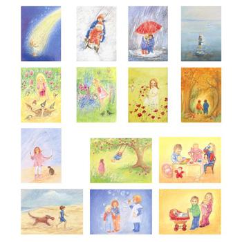 Sada obrázků Marjan van Zeyl - Děti