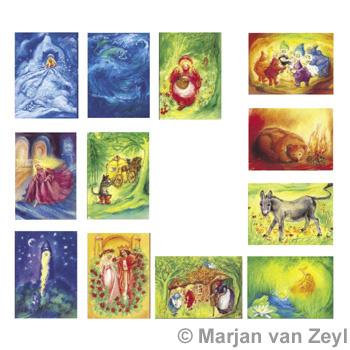 Sada obrázků Marjan van Zeyl - Pohádky