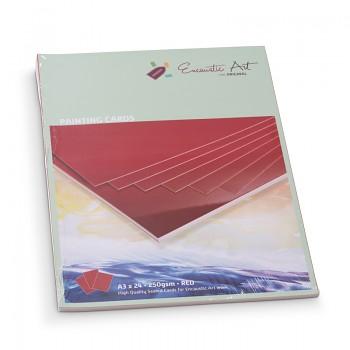 Encaustic karton červený A5 - 24 listů