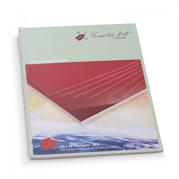 ENCAUSTIC Enkaustický papír červený - různé formáty