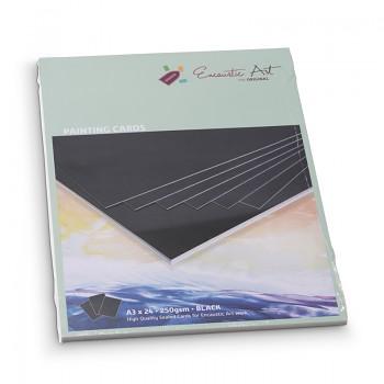 ENCAUSTIC Enkaustický papír černý A5 - 24 listů