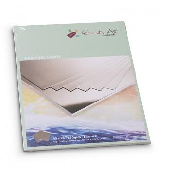 ENCAUSTIC Enkaustický papír bronzový A5 - 24 listů