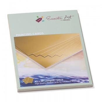 ENCAUSTIC Enkaustický papír zlatý - různé formáty