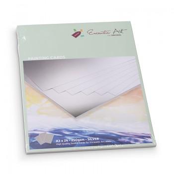 ENCAUSTIC Enkaustický papír stříbrný A5 - 24 listů