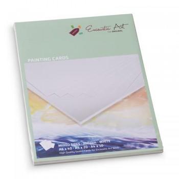 ENCAUSTIC Enkaustický papír bílý - sada, formáty A6, A5, A4