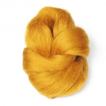 Ovčí vlna barvená česaná 10g - jemná - 35 zlatý písek
