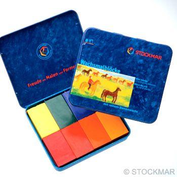 STOCKMAR Voskové bločky - 8 barev - waldorf mix