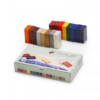 Zářivé barvy - sada 16 ks voskových barev ENCAUSTIC