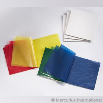 Transparentní voskovaný papír 5 vánočních barev - 100 ks