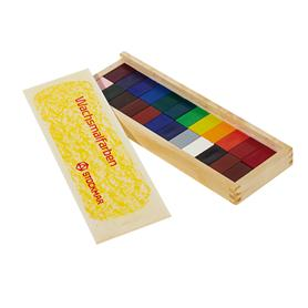 STOCKMAR Voskové bločky - 24 barev ve dřevěné krabičce