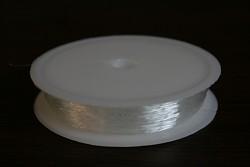 Pružné kulaté silikonové lanko - 0,6 mm