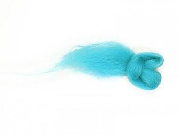 Ovčí vlna barvená česaná 10g - jemná - 50 tyrkysová světlá