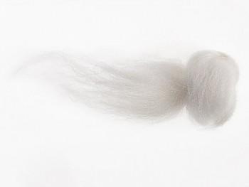 Ovčí vlna merino barvená česaná 10 gr. - jemná - 81 sněhově bílá