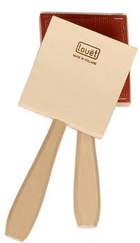 Pár ručních česacích kartáčů 10 x 10 cm - extra jemná vlákna