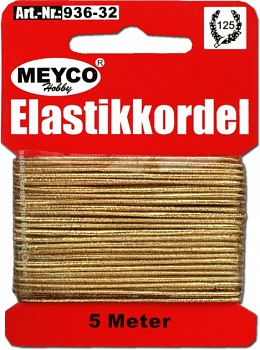 MEYCO Zlatá elastická šňůra (gumička)