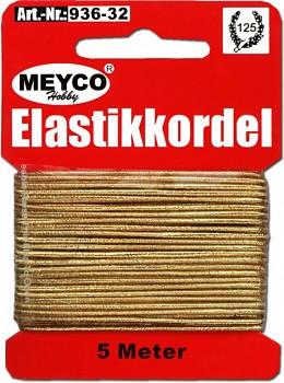 Zlatá elastická šňůra (gumička)