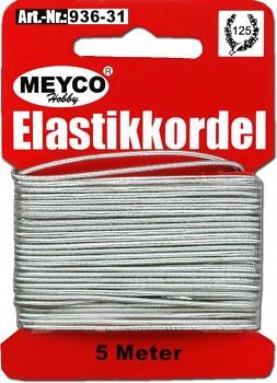 Stříbrná elastická šňůrka (gumička)