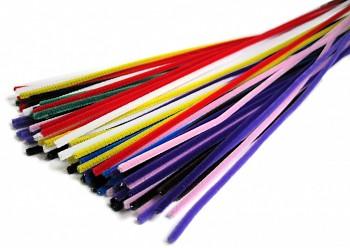 Chlupaté drátky - dlouhé - sada základních barev - MAXI balení