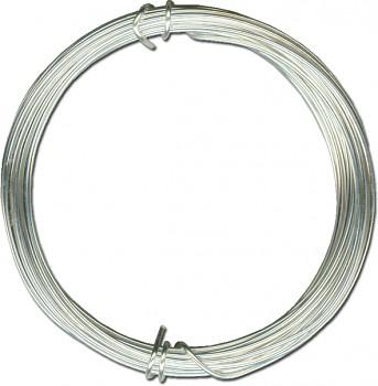 Postříbřený měděný drát - průměr 1 mm
