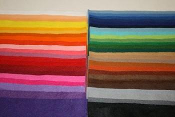 Filc 1 mm (165 gr.) - obdélník 22 x 20 cm - sada 50 barev