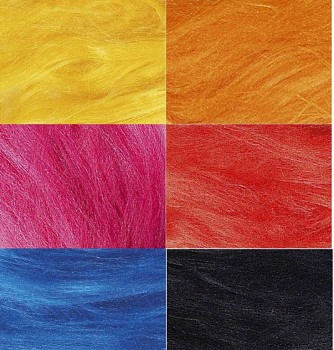 Hedvábné vlákno barvené 5 gr. - různé barvy