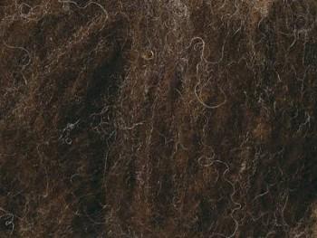 Ovčí vlna přírodní mykaná - tmavě hnědá