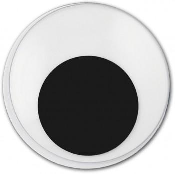 MEYCO Pohyblivé plastové oči - samolepicí - 5 mm - 100 ks