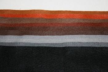 """Filc 1 mm (165 gr.) - obdélník 22 x 20 cm - sada 10 barev - """"Podzemní symfonie"""""""