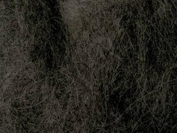 Ovčí vlna přírodní mykaná - černá