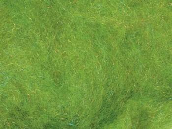 Ovčí vlna merino barvená mykaná - s leskem - zelená - 10g