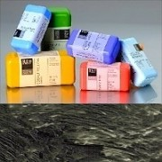 Voskové barvy pro Americkou techniku - černo-bílo-šedé pigmenty