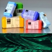 Voskové barvy pro Americkou techniku - zelené pigmenty