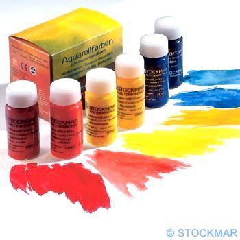 STOCKMAR Akvarelové barvy 6 ks 20ml Základní výběr