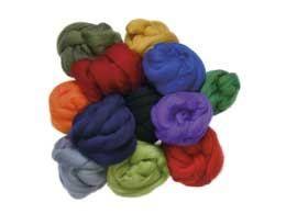 Ovčí vlna merino barvená česaná 10 g - EXTRA jemná - různé barvy