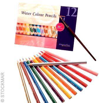 STOCKMAR Akvarelové pastelky 12 ks + štětec
