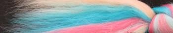 Ovčí vlna merino česaná 10 g - melír - Jednorožec