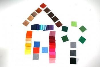Sada filcových čtverečků - 2,2 x 2,2 cm, 50 ks