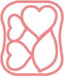 Clover Šablona pro plstění - Růže