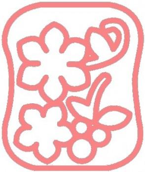 Clover Šablona pro plstění - Květy a bobule