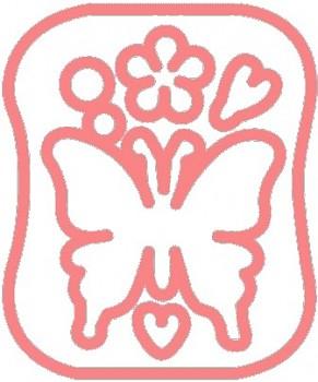 Clover Šablona pro plstění - Motýl