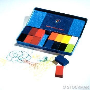 Voskové bločky STOCKMAR - 16 ks v plechové krabičce