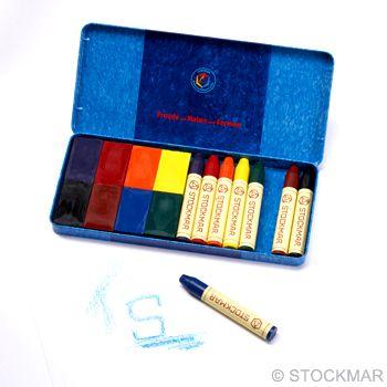STOCKMAR Kombinace bločků a pastelek 8 + 8 - v plechové krabičce