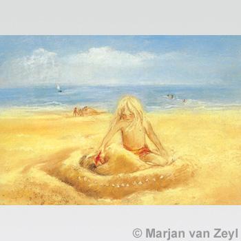 Obrázek Marjan van Zeyl - Na pláži