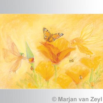 Obrázek Marjan van Zeyl - Sylfy pomáhající květinám